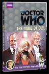 DOCTOR WHO THE MIND OF EVIL DVD sleeve from BBC CONSUMER PRODUCTS 2013