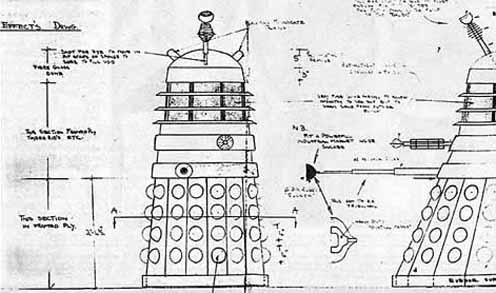 DOCTOR WHO - Terry Nation's Daleks designed by Ray Cusick - YESTERDAY'S PAPERS - Raymond Cusick by Elsie M Smith