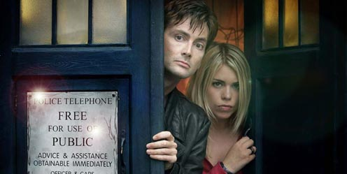 DOCTOR WHO with DAVID TENNANT and BILLIE PIPER